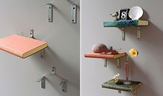 5 estanterías originales hechas con objetos reciclados