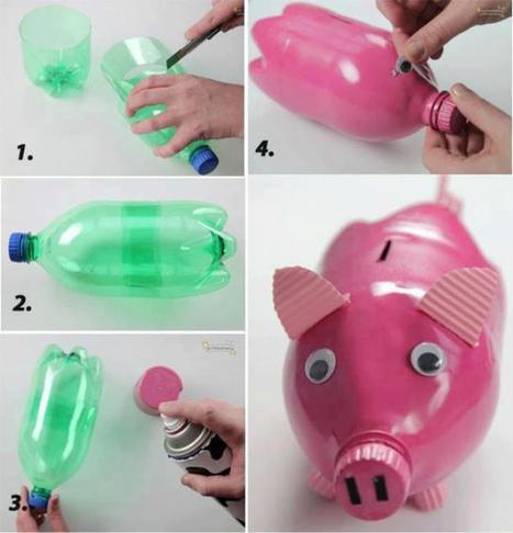 Hacer mi propia hucha con botellas