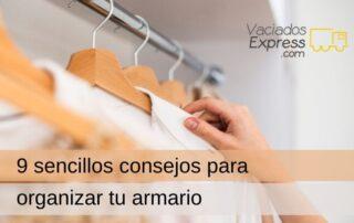 9 sencillos consejos para organizar tu armario
