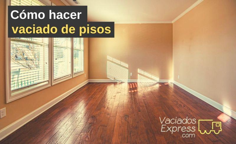 cómo hacer vaciado de pisos