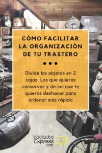 como ordenar y organizar un tratero